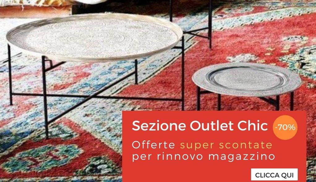Mobili etnici industrial e vintage vendita online con for Arredamento on line outlet