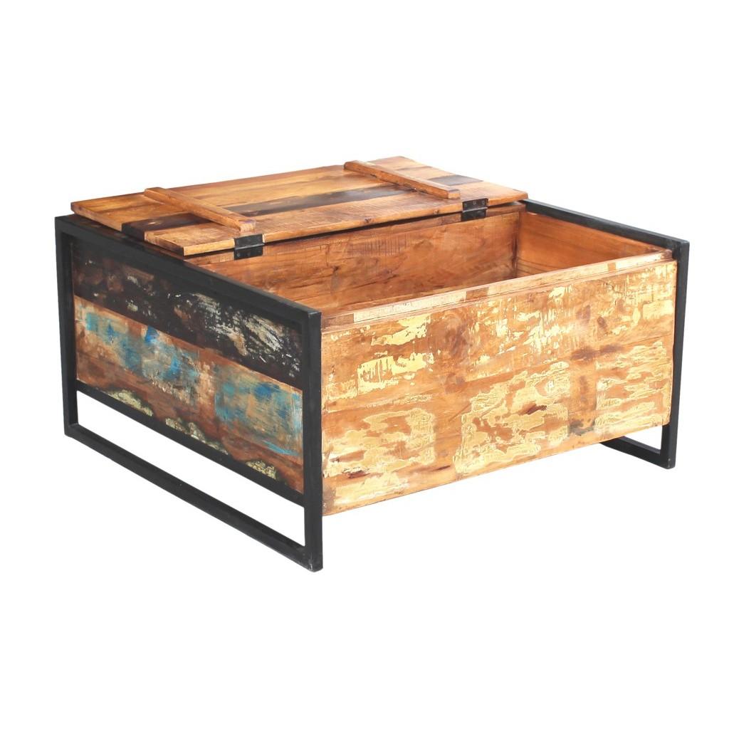 Tavolino Con Baule Vintage Industrial Etnic Outlet Arredamento Etnico E Non Solo