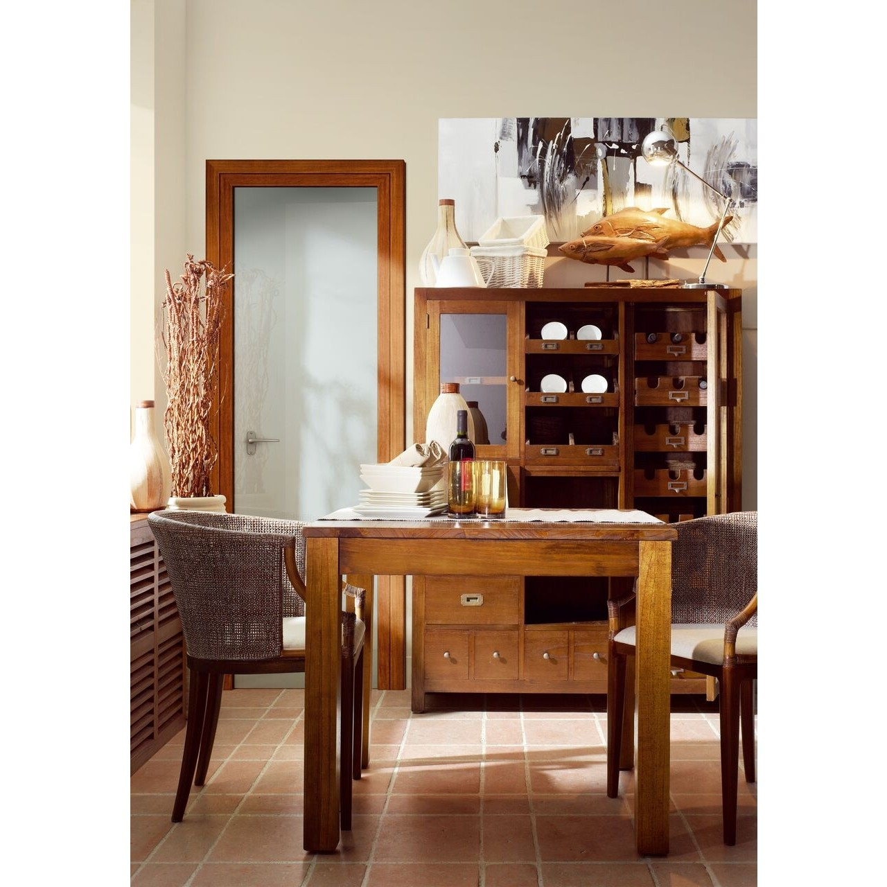 Buffet etnico neo coloniale etnic outlet arredamento for Etnico outlet