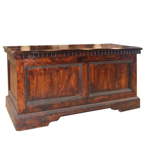 Cassapanca etnica in legno massello