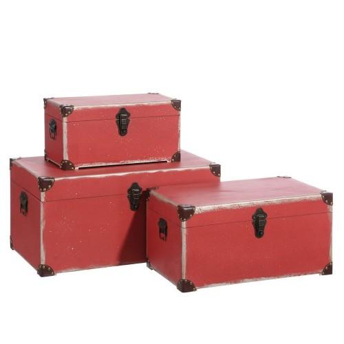 Set 3 bauli vintage rossi