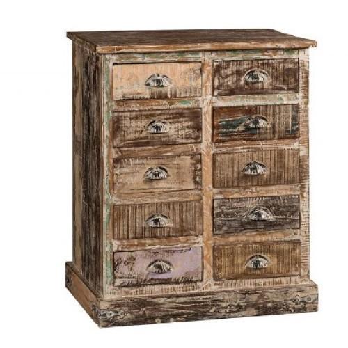 Cassettiera vintage legno riciclato