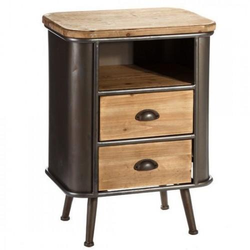Tavolino vintage chic legno e ferro