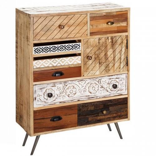 Consolle cassetti vintage legno