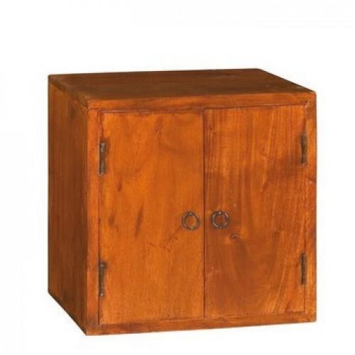 Cubo in legno massello 2 ante