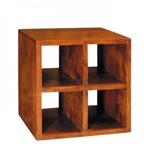 Cubo in legno massello 4 ripiani
