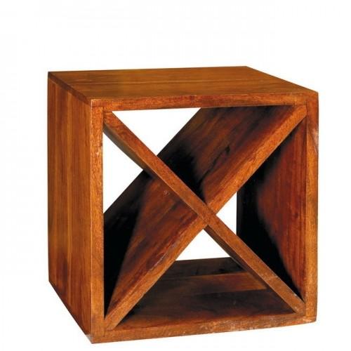 Cubo in legno massello