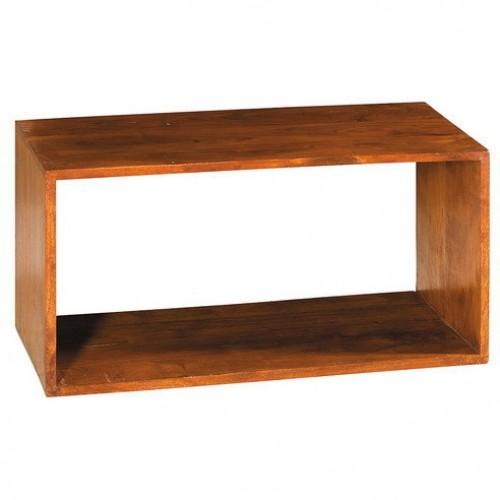 Cubo rettangolare in legno massello