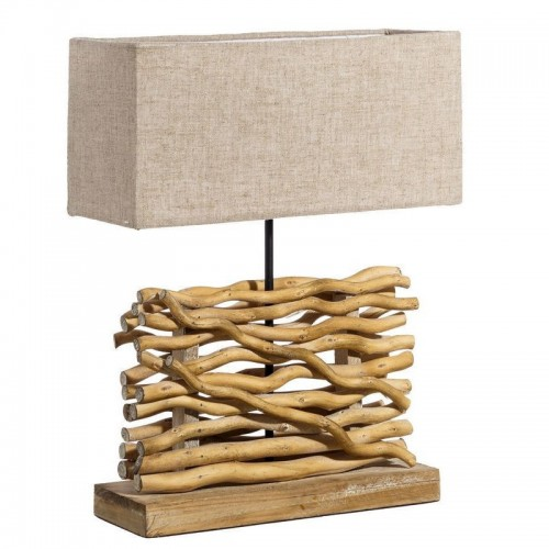 Lampada da tavolo etnica rami bamboo