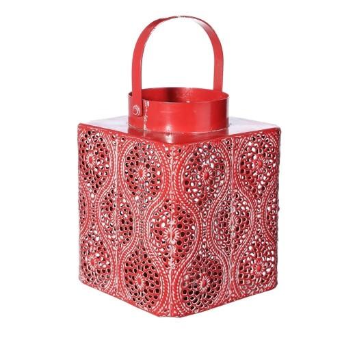 Lanterna quadrata rossa