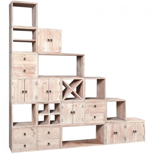 Libreria bianca componibile cubi