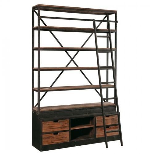 Libreria industrial con scala