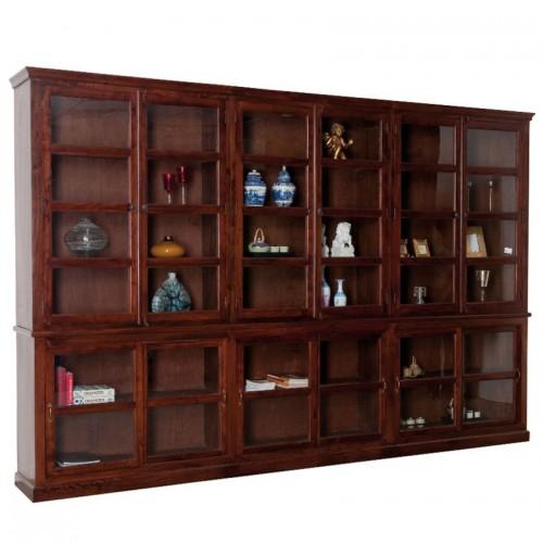 Libreria maxi legno massello etnica