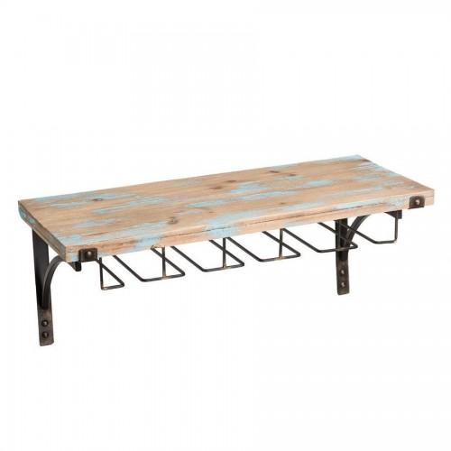 Mensola industrial legno e ferro
