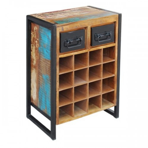 Mobiletto portabottiglie vintage industrial