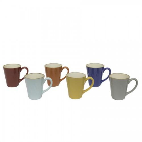Set 6 Mug colori assortiti
