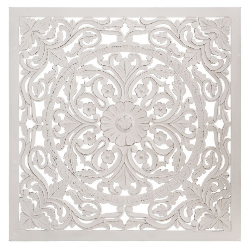 Murale legno bianco shabby