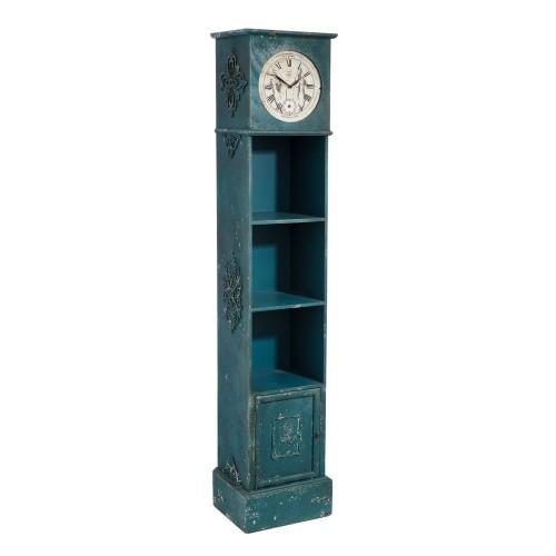 Orologio da terra legno azzurro