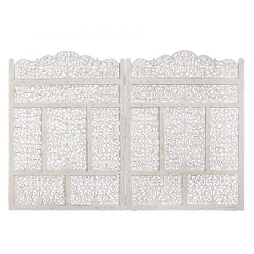 Testata letto murale bianco
