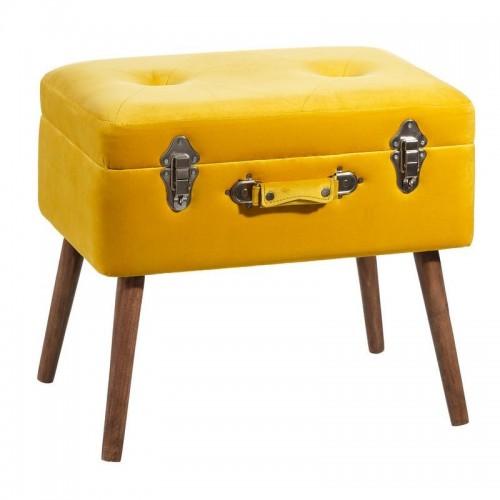 Panchetta baule vintage chic giallo