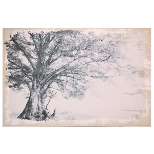 Quadro albero su juta