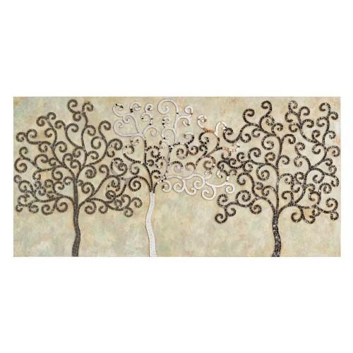 Murale parete alberi a mosaico
