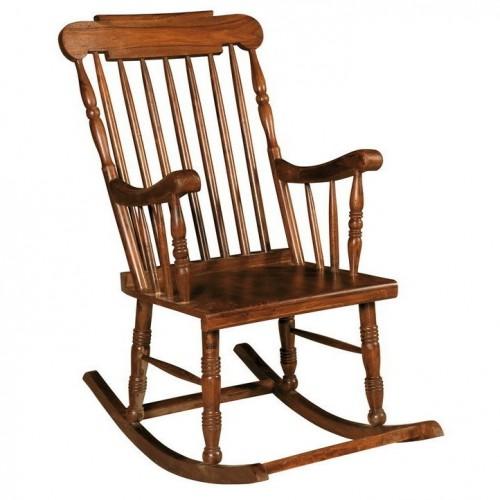 Sedia dondolo in legno