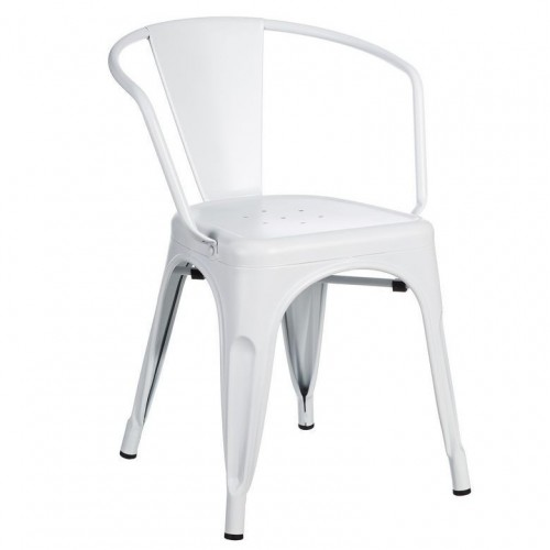 Sedia con braccioli industrial chic
