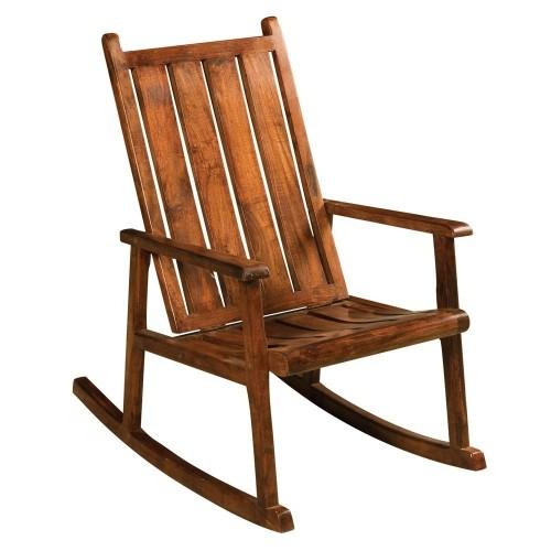 Sedia dondolo in legno massello