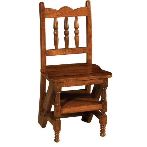 Sedia a scaletta legno massello