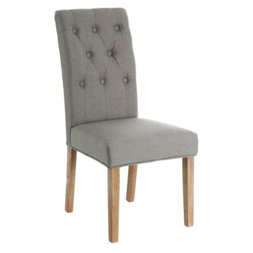 Sedia francese in tessuto grigio