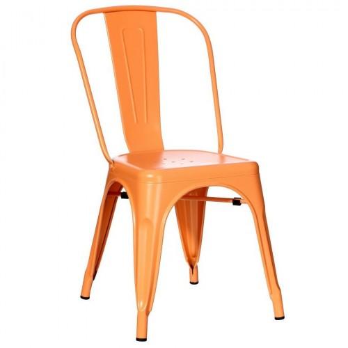 Sedia industrial chic arancione