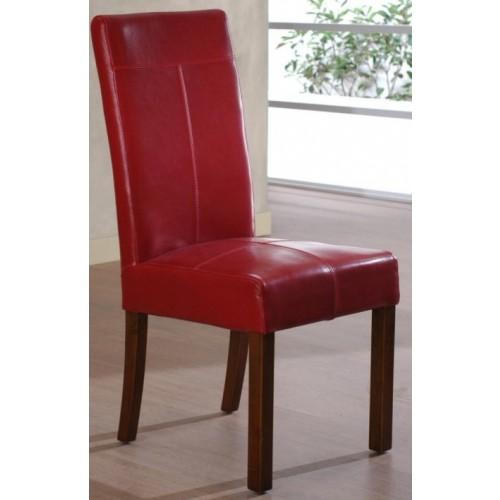 Sedia in ecopelle rossa