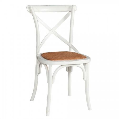Sedia provenzale legno bianco shabby