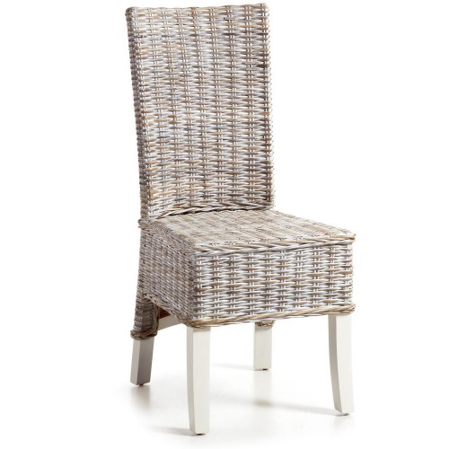 Sedia legno bianca romantica
