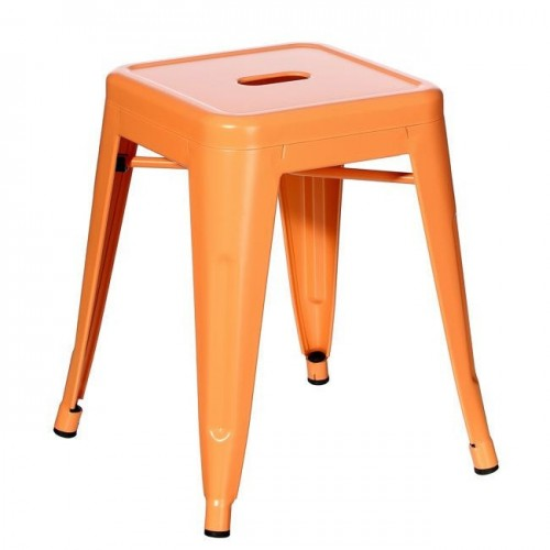 Sgabello industrial chic arancione
