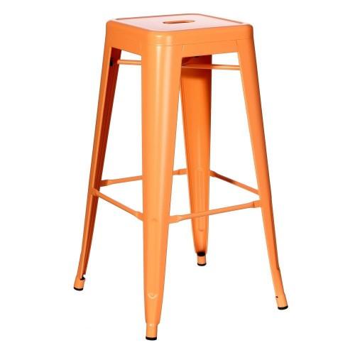 Sgabello alto industrial chic arancione