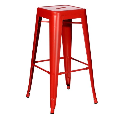 Sgabello alto industrial chic rosso