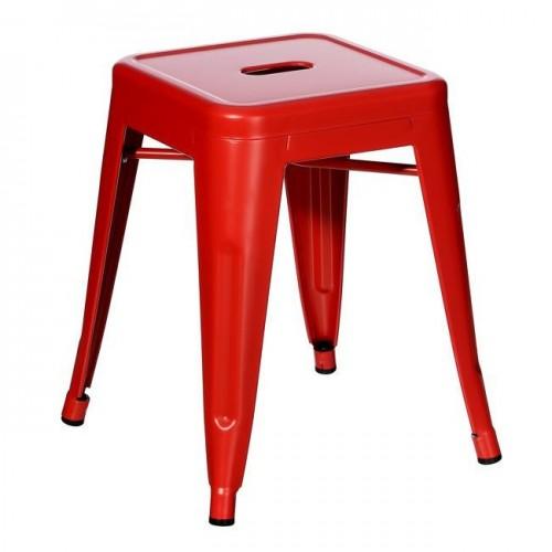 Sgabello industrial chic rosso