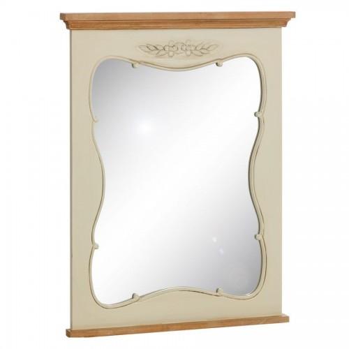 Specchiera legno bianco crema