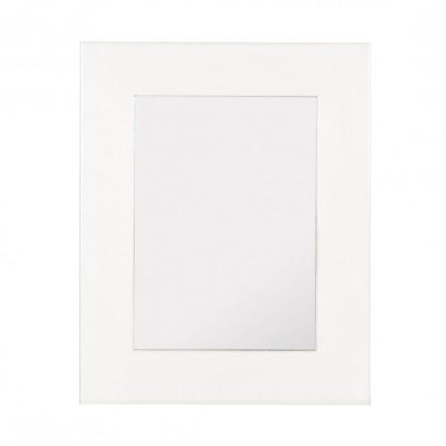 Specchio legno bianco coloniale