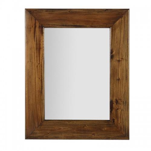Specchio etnico legno mogano