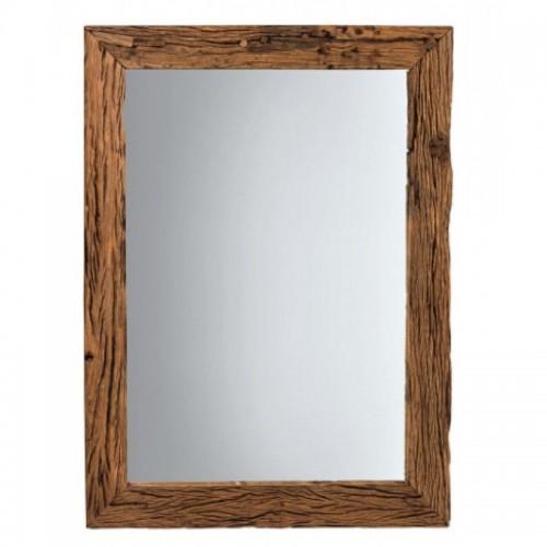 Specchio etnico legno riciclato