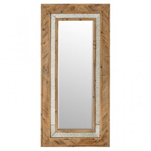 Specchio cornice legno naturale