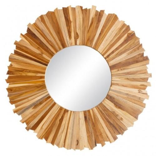 Specchio etnico legno naturale