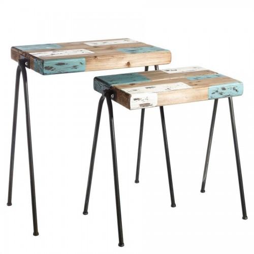 Set due tavolini industrial chic