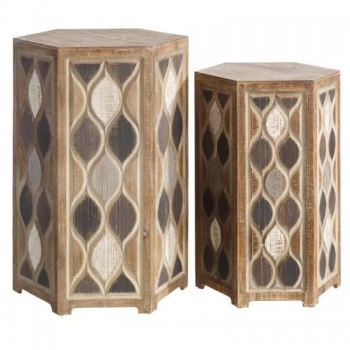 Tavolini vintage chic legno abete