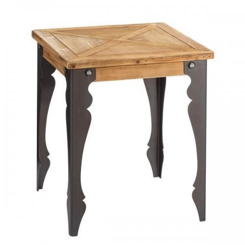 Tavolino industrial chic legno abete