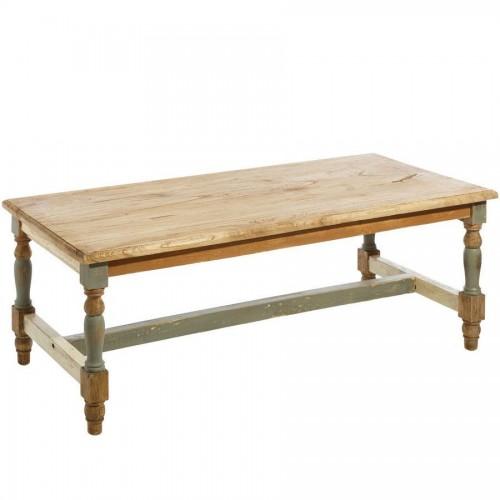Tavolino vintage legno mindi anticato