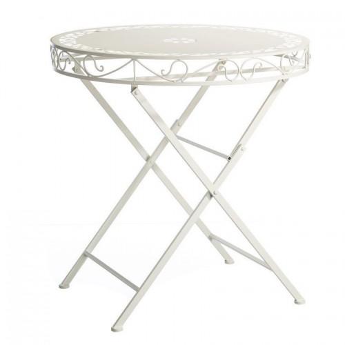 Tavolino ferro battuto bianco
